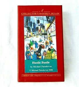 WENTWORTH HUSTLE BUSTLE COLLECTOR'S MICRO WOODEN JIGSAW PUZZLE 40 PIECES BOXED