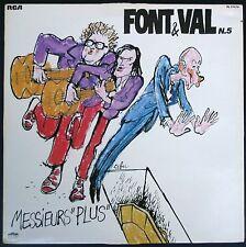 FONT ET VAL N°5 POCHETTE CABU 33T LP RCA PL 37.579 Messieurs PLUS / quasi NEUF