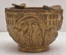 Vtg Sarreid Ltd Brass Ashtray Alien Birth Scene Trench Art Victorian Angel Jesus
