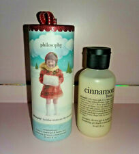 NEW Philosophy Cinnamon Buns Ornament 3-in-1 Shower Gel Shampoo Bubble Bath 2 oz