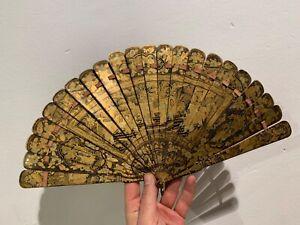 Fine Antique chinese lacqueur fan