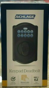 Schlage Touch Camelot Touchscreen Keypad Deadbolt Aged Bronze BE365 V CAM 716
