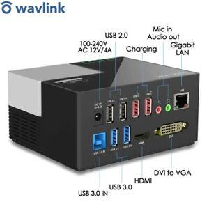Wavlink Universal USB 3.0 Laptop Docking Station Ultra 2K Dual Video HDMI RJ45
