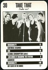 Take That #30 Melody Maker Top Rankers Trade Card (C1216)