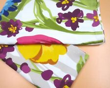 CYNTHIA ROWLEY Vibrant Modern Orange Yellow Blue Floral Shower Curtain