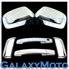 Triple Chrome Mirror+4 Door Handle+Rear Door Cover for 05-12 Nissan PATHFINDER