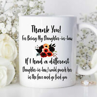 For Daughter In Law Family Mug Mug For Daughter In Law Mother's Day Gift