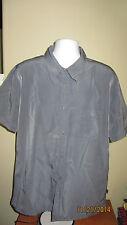 XL YMLA Short Sleeve French Cuff Club Style Gray Button Down Casual Shirt