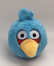 "Angry Birds Blue Bird Plush Stuffed Animal Toy 5"" With Sound ~ Works Great!"