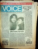 The Village Voice December 10-16 1980 John Lennon Obituary The Beatles 061620DBE