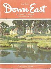DOWN EAST MAGAZINE~SEPTEMBER 1976