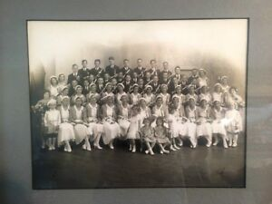Vintage Photo, Framed, Graduating Class, Early 1900's
