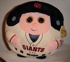 "Ty Beanie Ballz ~ SAN FRANCISCO GIANTS (8"" MEDIUM) MLB Baseball ~ with MISPRINT"