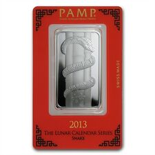 PAMP Suisse Lunar Year of the Snake 2013 1 oz .999 Silver Bar (in Assay)