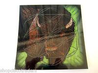 BUFFALO Totem Spirit Grid Board Flower of Life Laminated 8x8inch Animal Energy