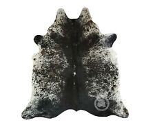 New Brazilian Cowhide Rug Leather SALT AND PEPPER 5'x7' Cow Hide