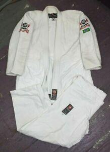 Atama Jiu Jitsu Traditional Gi BJJ Martial Arts Kimono Size A2 Pre Owned Brazil