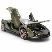 1:32 2019 Lamborghini Sian FKP 37 Supercar Model Diecast Toy Vehicle Sound Green