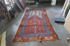 Antique Turkish Yuruk Ushak Wool on Wool Hand Knotted Rug 4'2 x 8'3 DISTRESSED!!