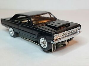 NEW BLACK 67 PLYMOUTH GTX & AW   CHASSIS, SLOTTED HUBS & NEW TIRES  HO SLOT CAR