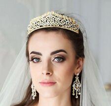 Bridal gold crystal tiara