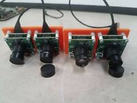"""X4 Camera Lens IR 8MM 1/2"""" Small connected to boards"""
