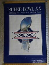 collectible Vintage poster Super Bowl Xx 1985