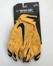 Nike Vapor Knit Yellow Black Football Gloves Adult Sz Medium Steelers NEW!!!