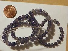 Blue Iolite Loose Beads String Graduated 4.71 to 7.31  MM.  16 Inches.