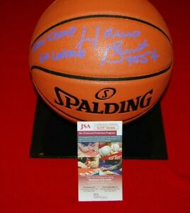 HORACE GRANT LOS ANGELES LAKERS autographed signed BASKETBALL JSA COA