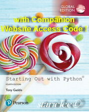 3 Days Aus Starting out With Python 4e Access Code Tony Gaddis 4th Edition