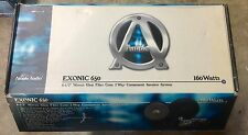 "NEW Old School Ample Audio Exotic 650 6.5"" 2-way Component Speakers,Rare,NOS,NIB"