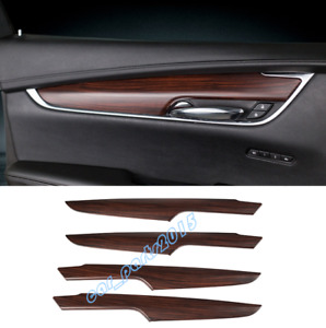 Peach Wood Grain Inner Door Armrest Decor Cover Trim For Cadillac XT5 2016-2019