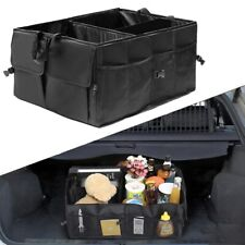 Car Trunk Cargo Storage Bag Organizer Foldable Multi-Purpose Holder Box Black