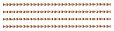 10 Feet 3.2mm #6 Solid COPPER BALL CHAIN ~ BULK LOT Footage + Plus 5 connectors