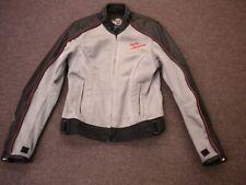 womens harley davidson leather mesh jacket Sm black Crimson Heart 2 in 1 roses
