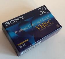 Sealed Sony VHS-C Camcorder Videocassette Tape 30/90 Min Premium Grade - New