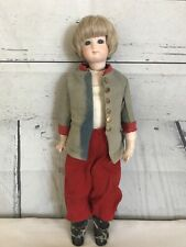 New ListingVintage Jointed Wwi Soldier Bisque Doll Leather Body 14""