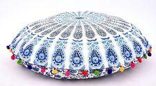 "Indian Mandala Floor Pillow Cover Bohemian Round Ottoman Covers 32"" Poufs Hippie"