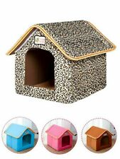 Pet House Foldable Bed With Mat Soft Puppy Sofa Cushion House Kennel Nest Dog
