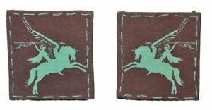 paire d'insignes  pégase  parachutiste anglais,Airborne,pégasus ,Arnhem ww2