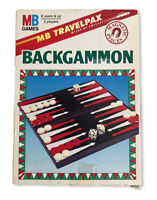 Vintage Backgammon Travel MB Games Travelpax 1990 Magnetic Pieces