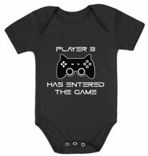 Player 3 Has Entered The Game - Funny Gift Third Child Baby Bodysuit Futre Gamer