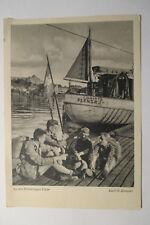 Postal Flensburg Flensburger promover juventud senderismo 1952 DHJ