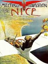 EXHIBITION AIRSHOW AIRPLANE AEROPLANE NICE FRANCE PILOT VINTAGE POSTER 1657PYLV