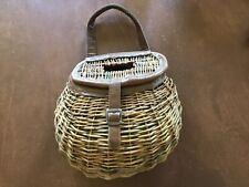 Docseifert Large Woven Fly Fishing Creel Wicker Basket Crafts Plants Home Decor