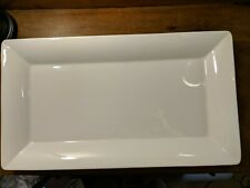 "Williams-Sonoma Made in Italy White Extra Large Serving Tray-Platter 21"" X 12"""