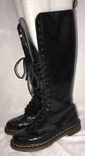 Dr. Martens Black Lace Up 20 Eye Knee High Combat Boots Us 7 U.K. 5