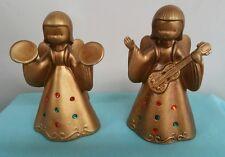 Lefton pair of vintage  golden angel figurines    Japan