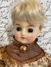 Antique Early Wax over Papier Mache German (?) Doll Composition Legs, Wood Arms